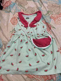 Watermelon Dress 9-12mos