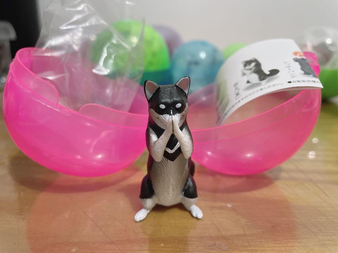YELL 合掌祈福動物P3 扭蛋 柴犬(黑)款
