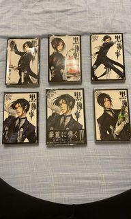 #618 漫畫:黑執事1~5集+日文版第4集
