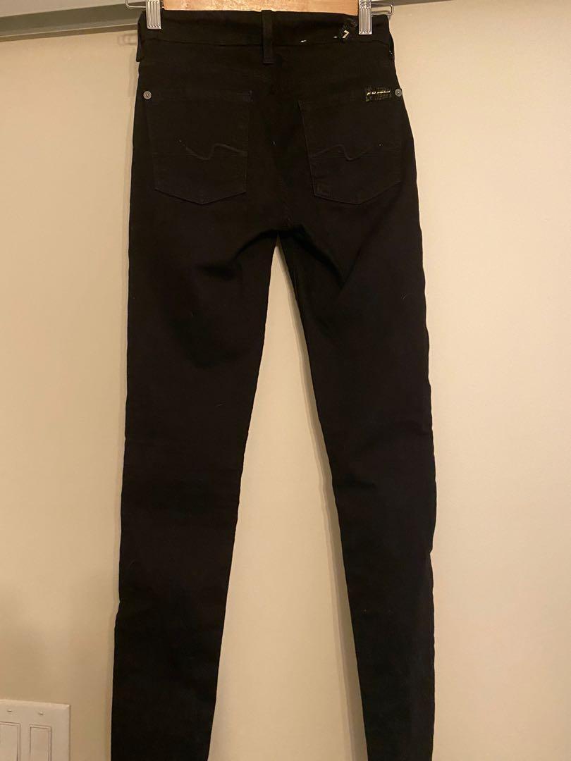 7 for all Mankind Black Skinny Jean