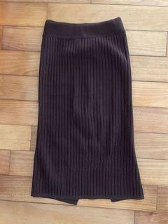 咖啡色針織裙