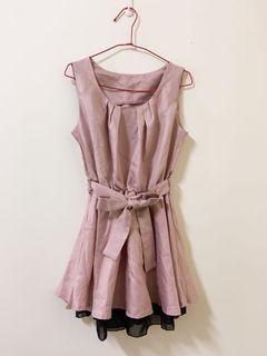 ❤️ 玫瑰粉無袖洋裝連身裙 謝師宴 喜宴