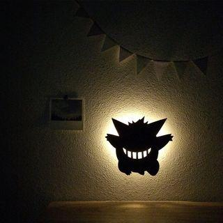 【🇯🇵免本地運費】日本原裝進口 日版 Pokemon 寵物小精靈 剪影掛牆燈 LED 壁燈 Wall Light 耿鬼 gengar