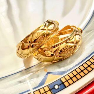 AUTHENTIC SONIA RYKIEL LOOP EARRINGS | VINTAGE | GOLD TONE | EXCELLENT CONDITION | SOURCE JAPAN | SOLD AS IS NO INCLUSIONS