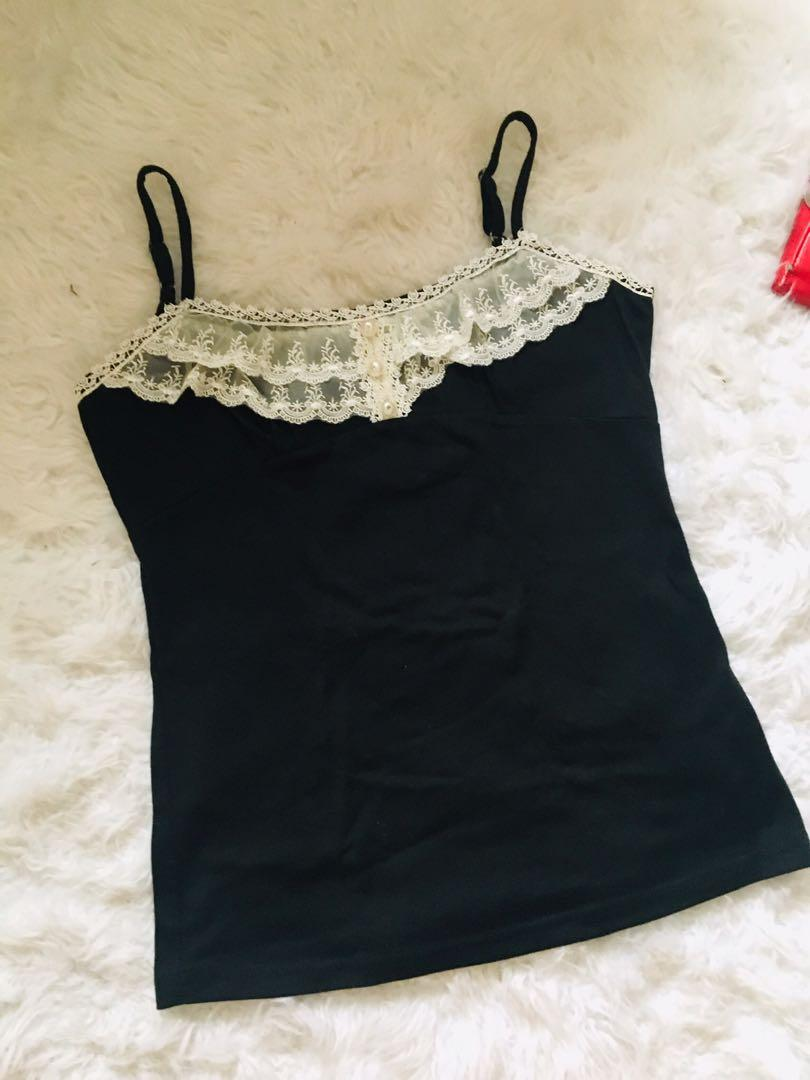 Camisole with lace from japan