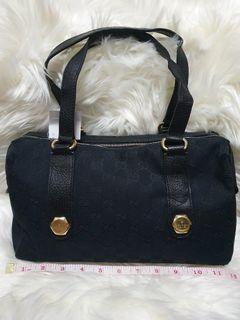 Gucci Monogram Small Charmy Black Boston Bag