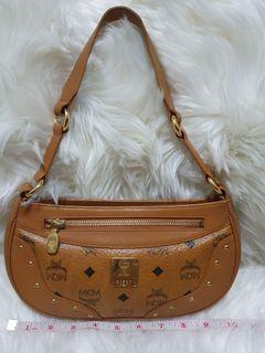 MCM Cognac Small Shoulder Bag
