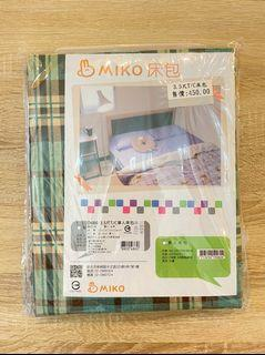 Miko全新3.5x6.2尺單人床包 (送9成新枕套)