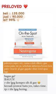 Neutrogena On the Spot treatment