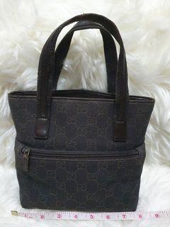 Original Gucci Top Handle Canvass Brown Monogram Bag