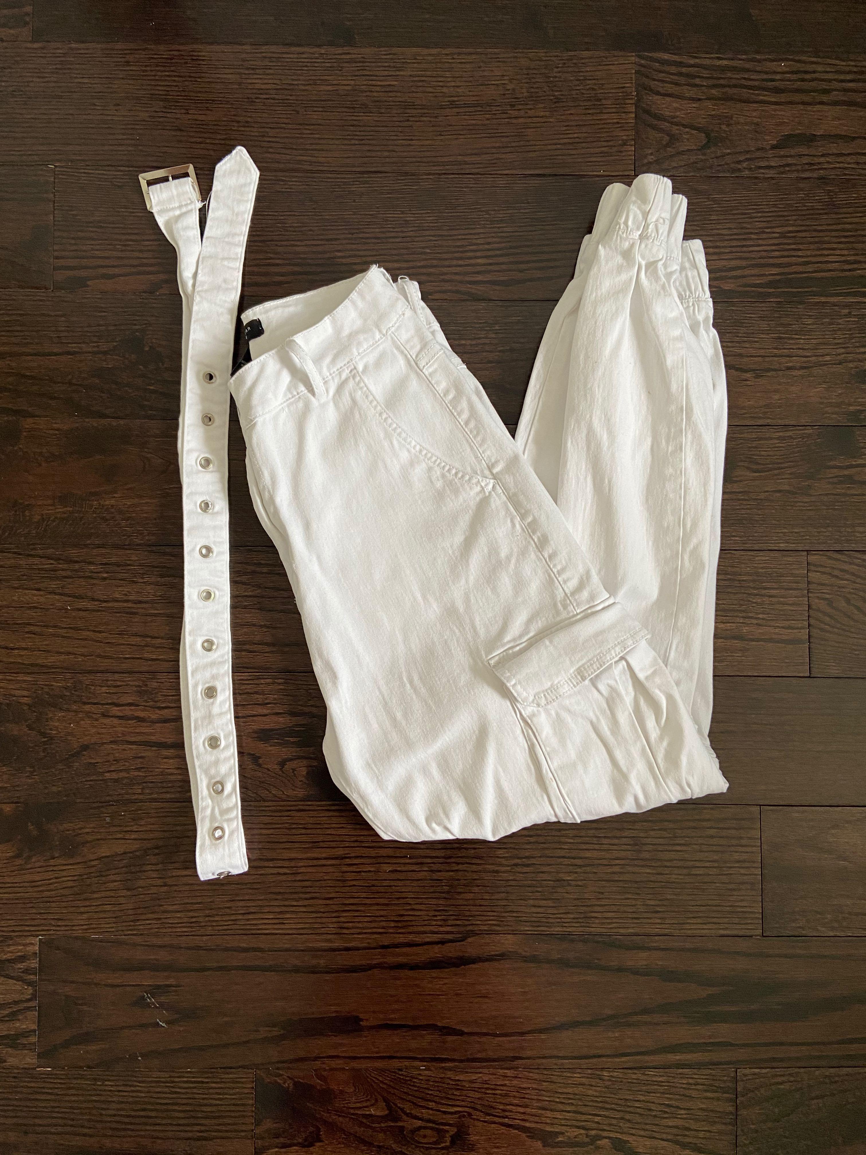 STREETWEAR FASHION white cargo pants