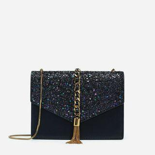 TAS CHARLES&KEITH CLUTH SLING BAG IMPORT