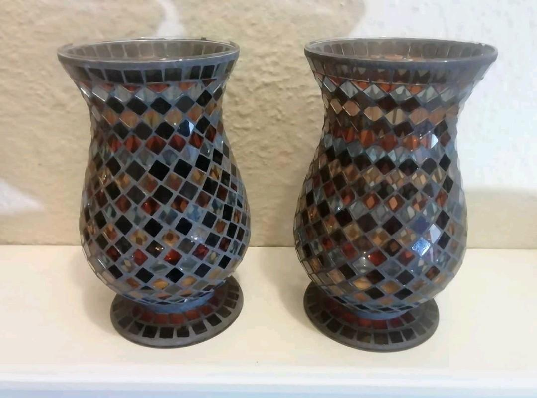 Two Mosaic Vases - both for $20 or one for $12