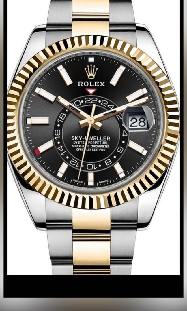 WTB Rolex Sky Dweller 326933 Half Gold