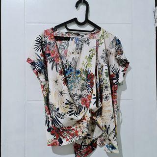 zara kimono blouse