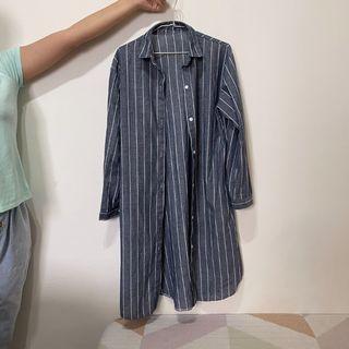 日系長版罩衫