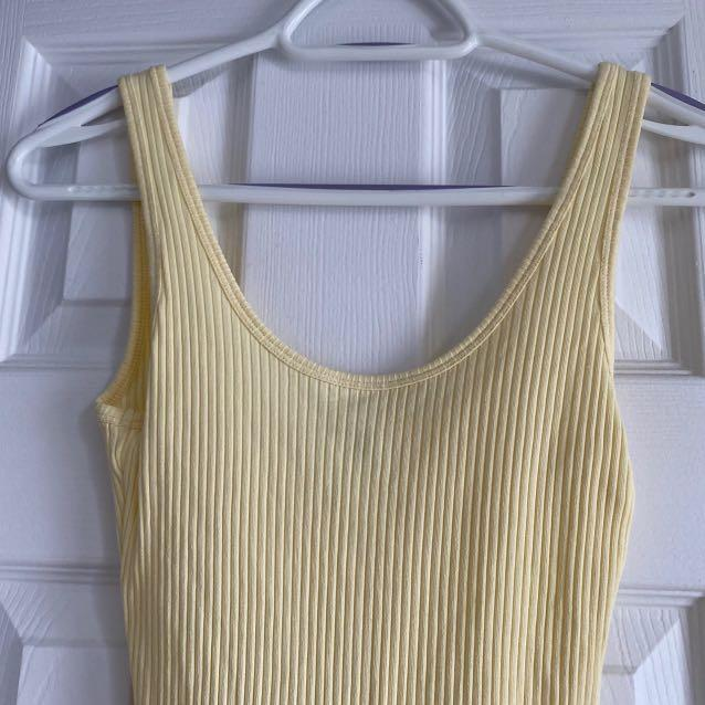 ARITZIA WILFRED FREE BODYSUIT YELLOW SMALL