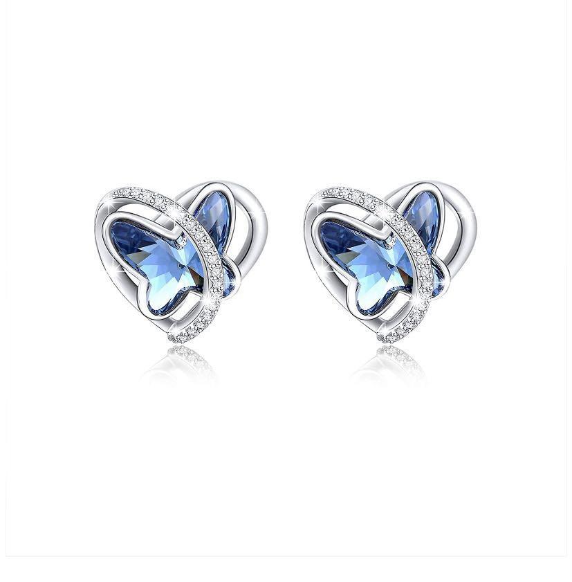 Brand new Blue Butterfly Stud Earrings