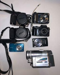 Cameras: sony, canon, nikon, Panasonic, fujifilm