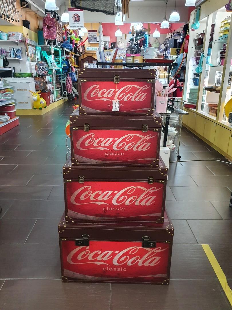 Chest Drawer Box 4 in 1 New Coca Cola Design Vintage