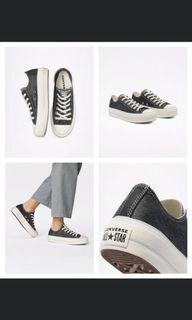 Converse(All star)厚底鞋款(金屬牛仔色)