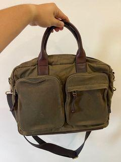 Fossil Canvas Sling Bag Brief Style Smart Casual