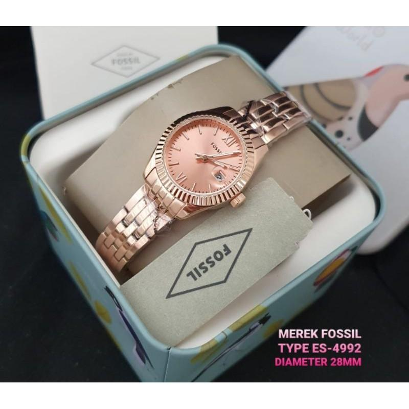 Fossil Watch Original ES4992 Full Rosegold With box Ori