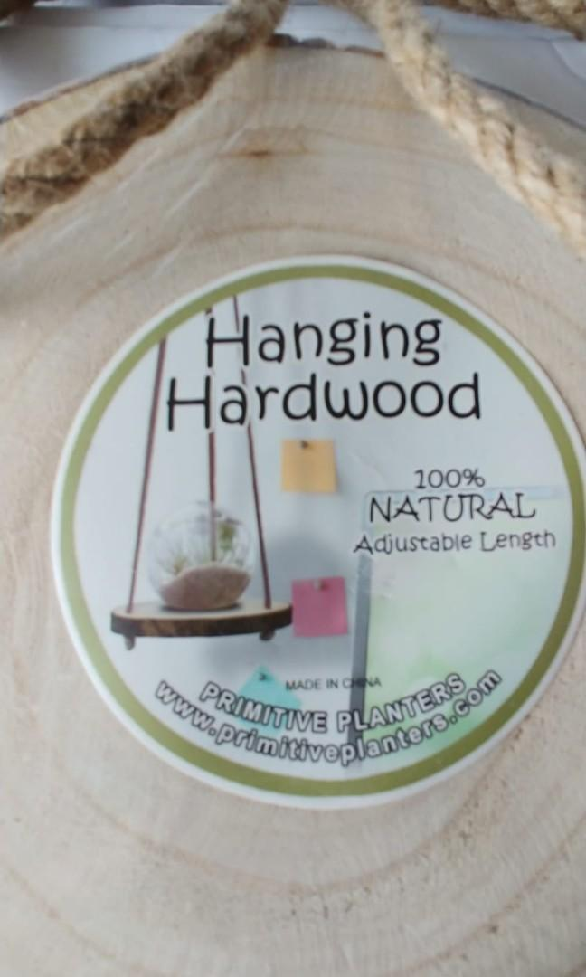 Hanging hardwood, 100%natural