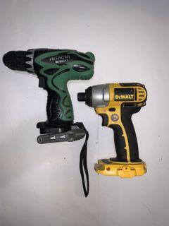 Hitachi & Dewalt Power Drills