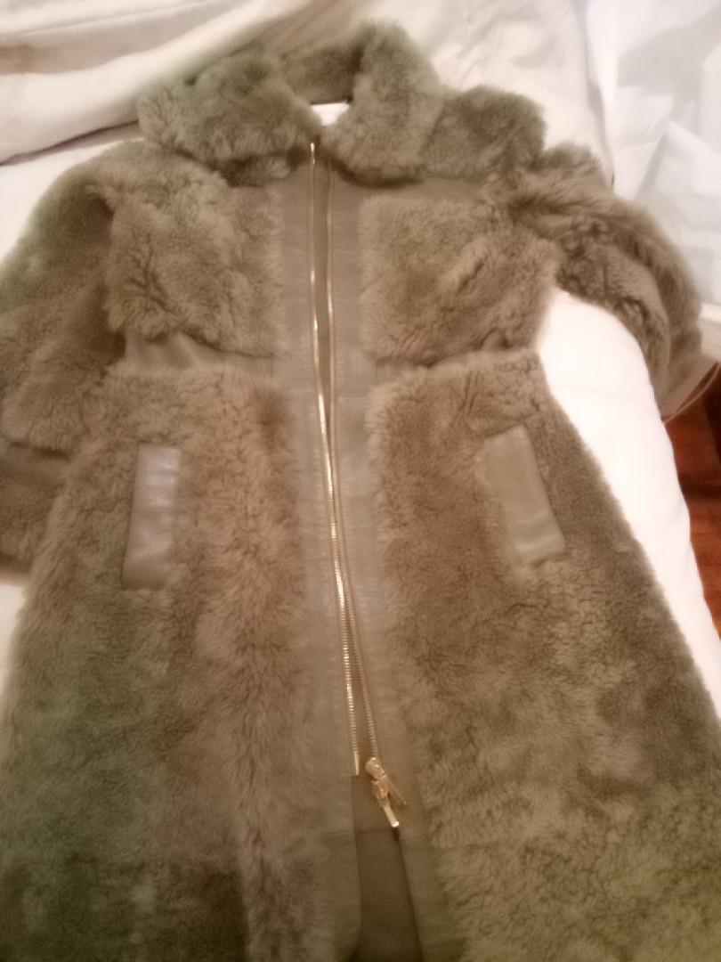Lambskin & Shearling full-length coat
