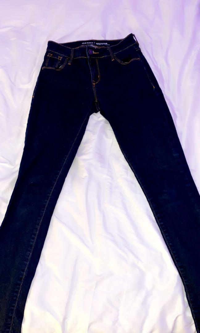 Mid rise Rockstar style skinny jeans