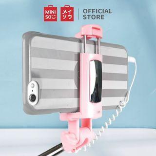 Miniso Selfie Stick Tongsis Tongkat Selfie Official Fashionable Japan Jepang PINK Original Authentic Foto Fotografi Photo Photography Hp Hand Phone Camera Aksesoris Accessories #bersihmar