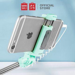 Miniso Selfie Stick Tongsis Tongkat Selfie Green Hijau Official Fashionable Japan Jepang Original Authentic Foto Fotografi Photo Photography Hp Hand Phone Camera Aksesoris Accessories #bersihmar