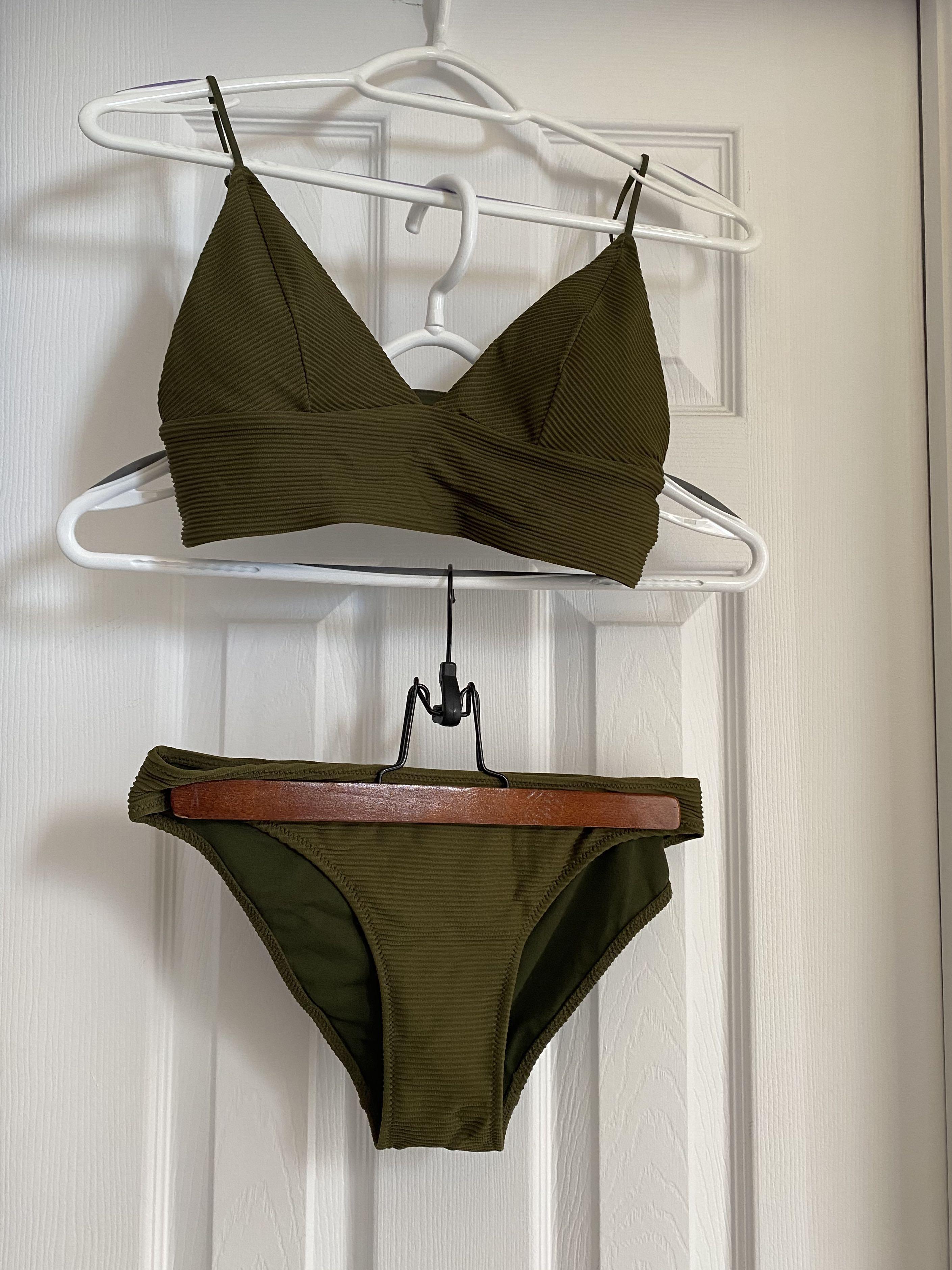 Olive Green Bikini Set
