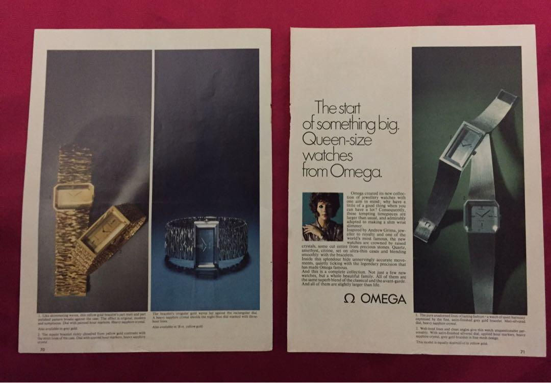 OMEGA Vintage 1971 Watch Ad Advert Collectible