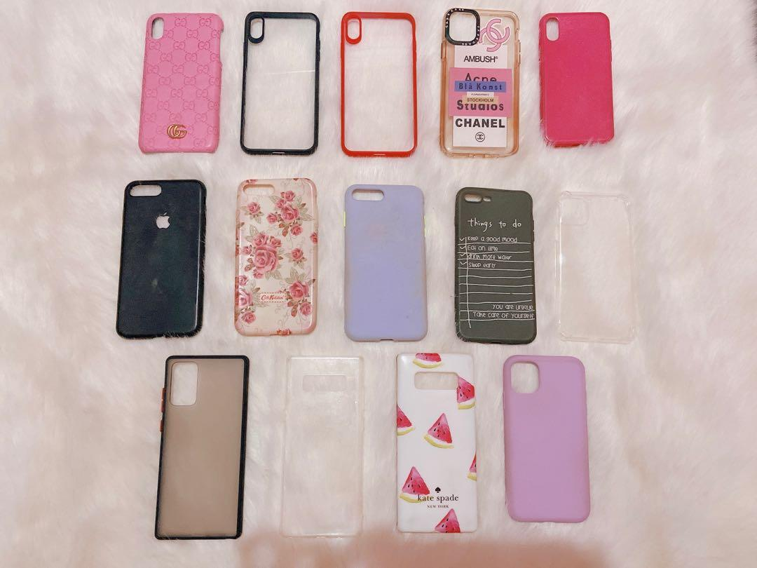 Preloved softcase iPhone x, iPhone xs max, iPhone 7+, iPhone 11 pro max, iPhone 11, Samsung note 8, take all 70k satuan 10k