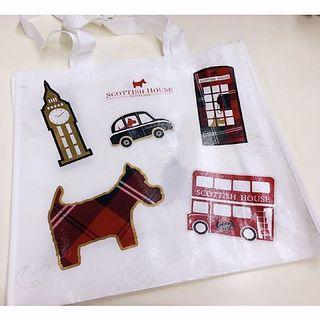 Scottish House 2018 年 秋季全新購物袋-白色款