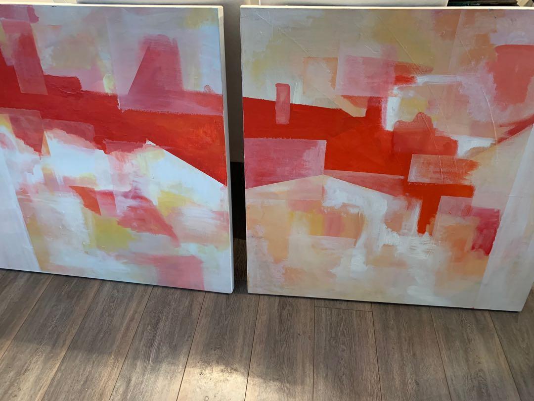 Set of canvas artwork