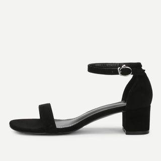 Shein Black Suede Heels