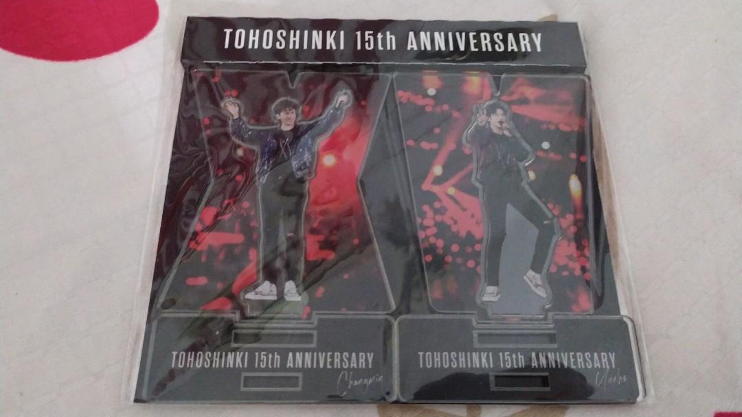 Tohoshinki 15th anniversary standee