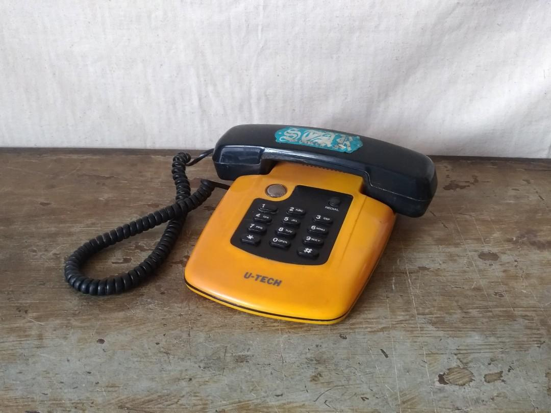 「U-TECH」家用電話機(大黃蜂) —古物舊貨、懷舊古道具、擺飾收藏、早期民藝、古董科技收藏