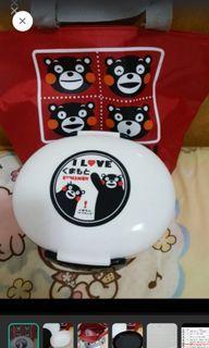 全新台灣製熊本熊便當盒&手提袋 便當袋#防疫