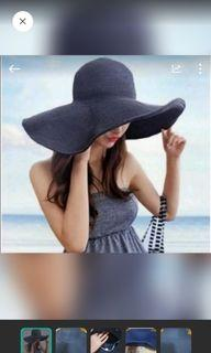 大帽簷 沙灘帽 大草帽 夏天  旅行 渡假 遮陽帽 海灘 防曬  造型 帽子#防疫
