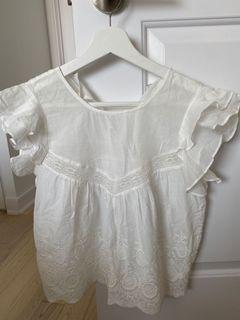 Aritzia Sunday Best white blouse