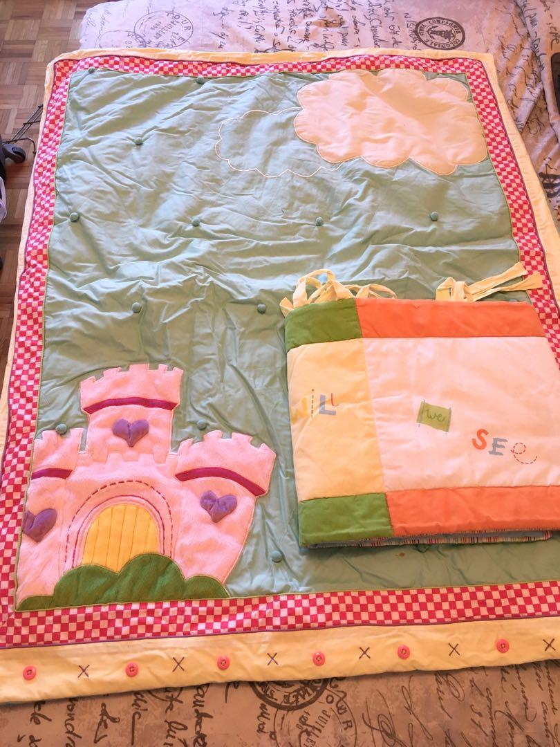 Baby blanket and crib bumper