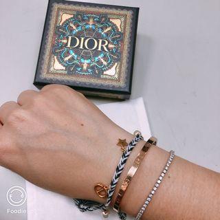 限時降3天  Dior 編織 手環 幸運手環 原購價15000