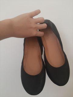 Flat shoes black hitam sepatu