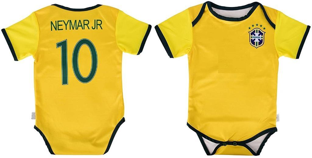 Neymar Jr #10 Brazil Soccer Baby Infant Onesie (Size 12 Months)