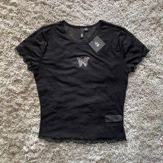 NWT Black Sheer T-Shirt