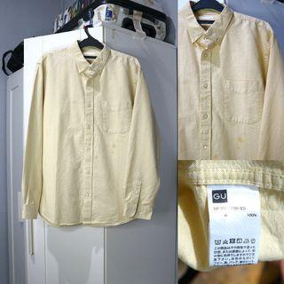Uniqlo Denim Yellow Shirt
